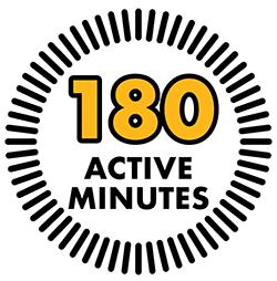 180 active minutes